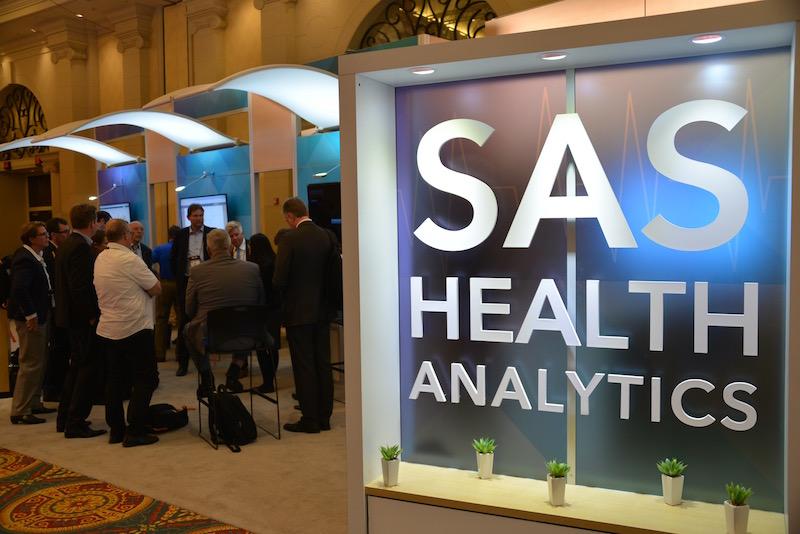 Unsere Reisegruppe informierte sich bei SAS auf der HIMSS 2016 in Las Vegas.